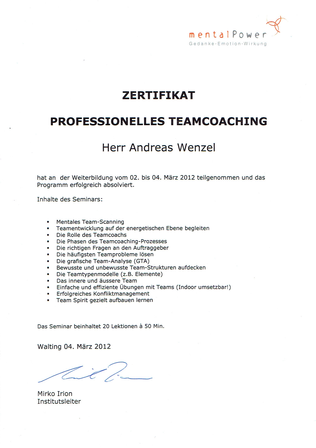 Professionelles Teamcoaching